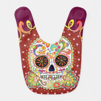 Sugar Skull Baby Bib - Day of the Dead Art