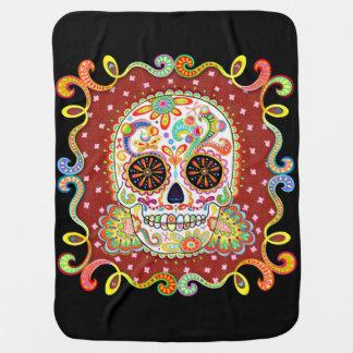 Sugar Skull Baby Blanket - Day of the Dead Art