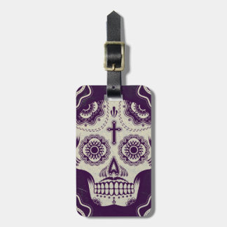 Sugar skull bag tag