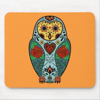 Sugar Skull Barn Owl Mouse Pad