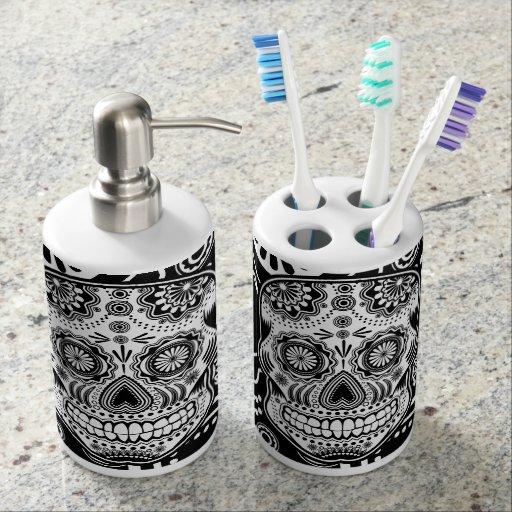 sugar skull bath set zazzle