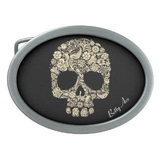 Sugar Skull Betty Ace Belt Buckle