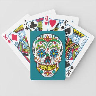 Sugar Skull Bicycle Playing Cards