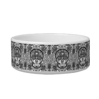 Sugar Skull Black and White Bowl