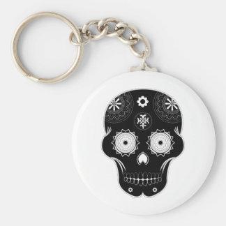 Sugar Skull Black Key Chain