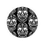 Sugar Skull Black.png Round Clocks