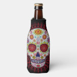 Sugar Skull Bottle Cooler - Day Of The Dead at Zazzle