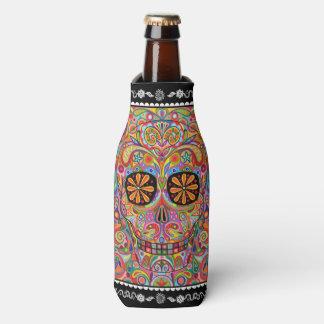 Sugar Skull Bottle Cooler - Day of the Dead