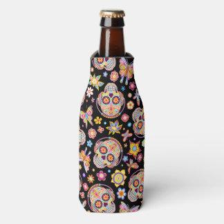 Sugar Skull Bottle Cooler - Day of the Dead Art