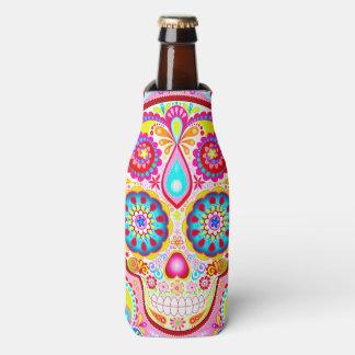 Sugar Skull Bottle Cooler - Day of the Dead Koozie