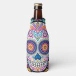 Sugar Skull Bottle Cooler - Day Of The Dead Skulls at Zazzle