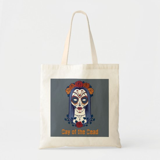 Sugar Skull Bride, Day of the Dead Tote
