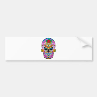 Sugar Skull Bumper Sticker