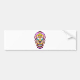 Sugar Skull Bumper Sticker