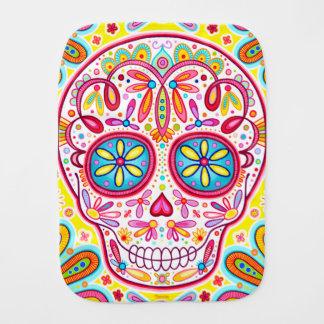 Sugar Skull Burp Cloth - Colorful Art