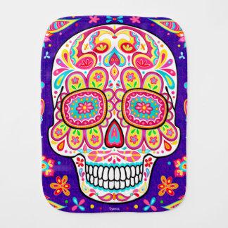 Sugar Skull Burp Cloth - Colorful Skull Art