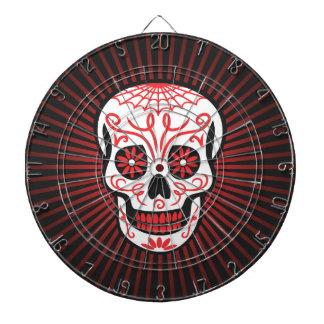 sugar skull burst black dart boards