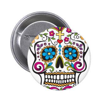 Sugar Skull Pinback Button