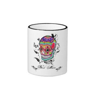 Sugar Skull Calaveras Dia De Los Muertes Art Ringer Mug