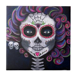 Sugar Skull Candy 2 Ceramic Tile