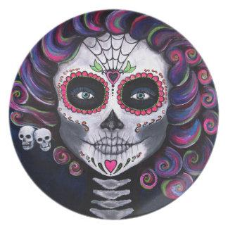 Sugar Skull Candy 2 Plate