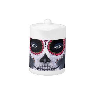Sugar Skull Candy 2 Teapot at Zazzle