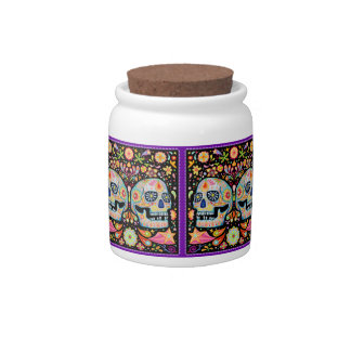Sugar Skull Candy Jar Day of the Dead