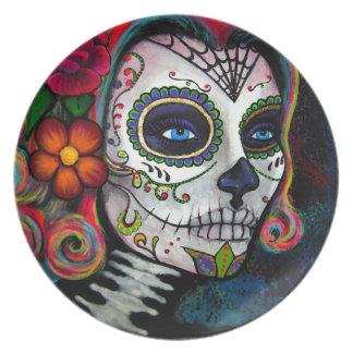 Sugar Skull Candy Melamine Plate