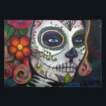 """Sugar Skull Candy Placemat<br><div class=""""desc"""">Acrylic painting on stretched canvas</div>"""