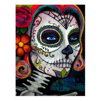 Sugar Skull Candy Postcard