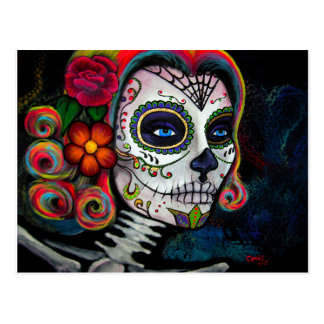 Sugar Skull Candy Postcard