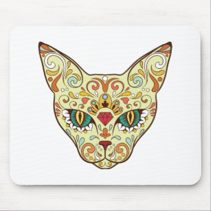 Day Of The Dead Cat Mouse Pads Zazzle