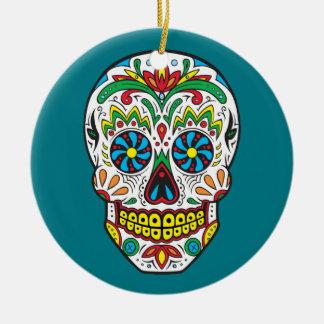 Sugar Skull Ceramic Ornament