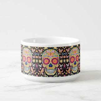 Sugar Skull Chili Bowl - Day of the Dead Art