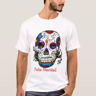 sugar skull christmas, Feliz Navidad! T-Shirt