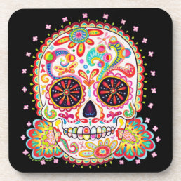 Sugar Skull Coaster Set of 6