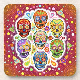 Sugar Skull Coasters - Set of 6