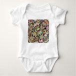 Sugar Skull Collage Infant Creeper