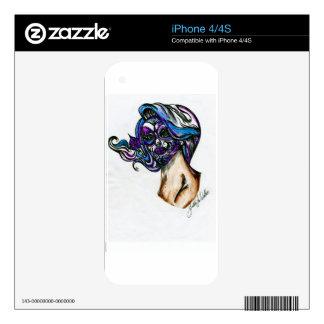 SUGAR SKULL COLORED DRAWING IN PEN ORIGINAL.jpg Skins For iPhone 4