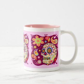 Sugar Skull Colorful Art Mug