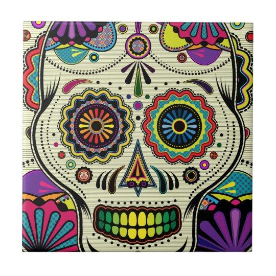 Sugar Skull Colors / Day of the Dead Art - tile