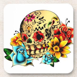 Sugar Skull Beverage Coaster