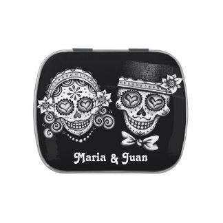 Sugar Skull Couple Candy Tin - Customize It!