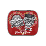 Sugar Skull Couple Candy Tin - Customize It!