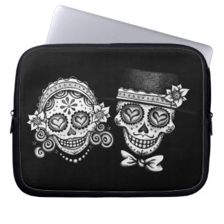 Sugar Skull Couple Day of the Dead Laptop Sleeve