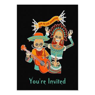 Sugar Skull Couple Dia de los Muertos Invitation