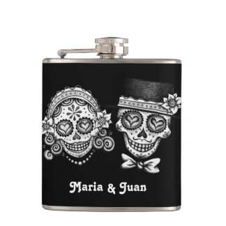 Sugar Skull Couple - Flask - CUSTOMIZE IT