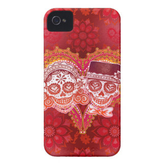 Sugar Skull Couple iPhone 4 Case by Case-Mate