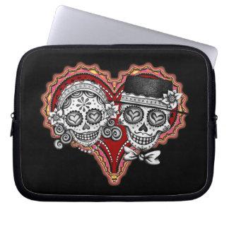 Sugar Skull Couple Laptop Sleeve