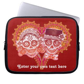 Sugar Skull Couple Laptop Sleeve - CUSTOMIZE IT!